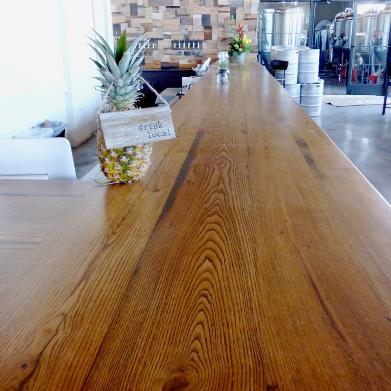 Reclaimed Chestnut Bar Top at New Park Brewery