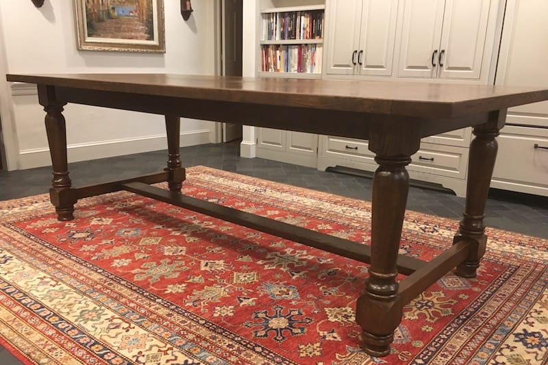 Stained French Oak Table by NEWT