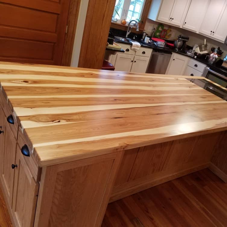 Hickory Island Top with heating panel