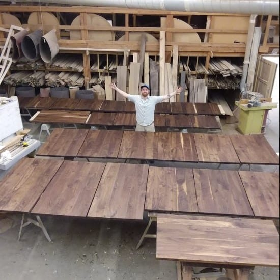 Black Walnut Table Tops for Beam House Restaurant