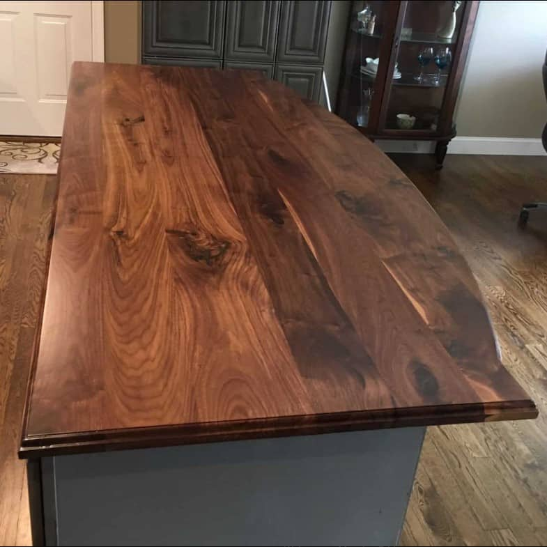 New Black Walnut Countertop Showing Sapwood And Heartwood Coloring